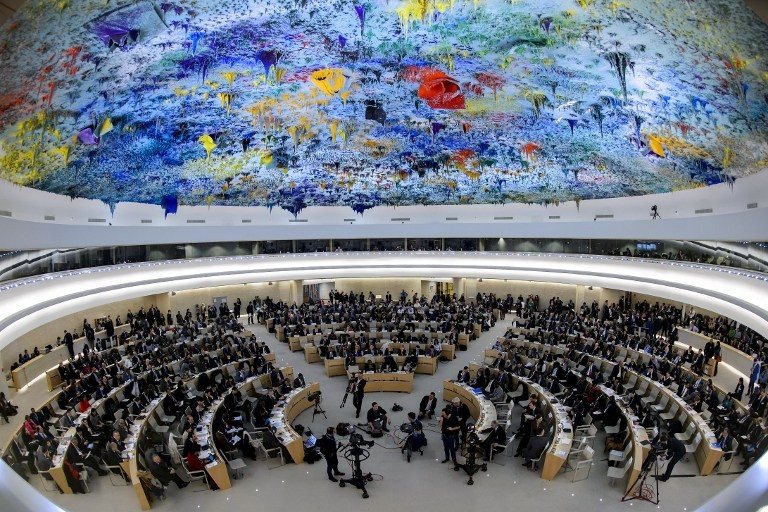 The 33rd session of Human Rights Council is being held from 13 to 30 September in Geneva. [AFP]