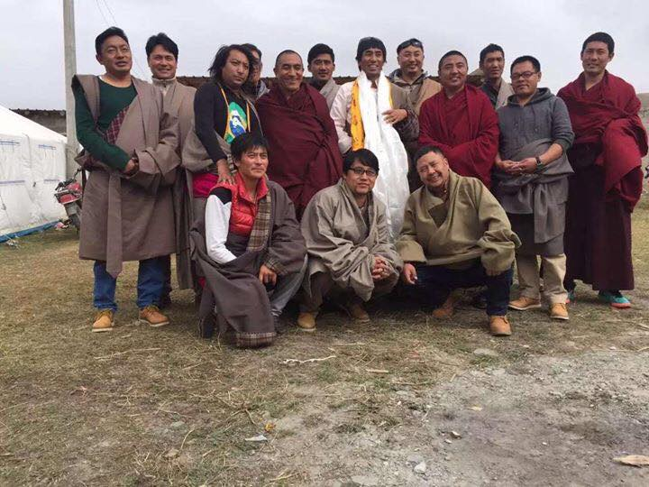 with friends Theurang, Buddha, Jangkho, Sangga and others in Meruma
