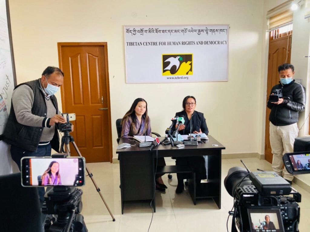 TCHRD researcher Ms Tenzin Dawa (left) and executive director Ms Tsering Tsomo